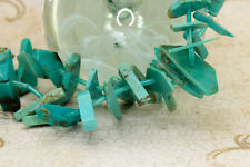 Turquoise Flat Nugget Teeth Free Form Shape Gemstone Beads (Full Strand)