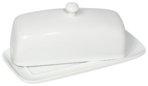 Now Designs Butter Dish, White 5037001aa