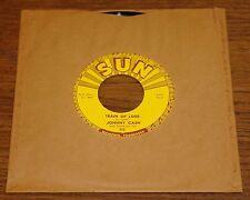 "JOHNNY CASH ~ TRAIN OF LOVE b/w THERE YOU GO ~ ORIGINAL USA SUN 7"" 1956"