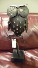NEW Pottery Barn Punched Metal Owl Lumninary on a Branch Lantern 18""