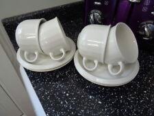 HABITAT BIANCA CUPS AND SAUCERS X 4