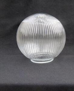 "1 Vintage Holophane Ribbed Glass 8"" Globe"