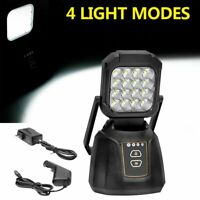 1PC Super Bright LED Work Light Portable Rechargeable Magnetic Base 4 Modes