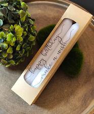 Geburtstag Kerzen-Set ♥ Kerzen zum Geburtstag mit Spruch/Schriftzug, Verpackung