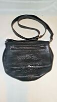 Treasure & Bond Black Leather Flap Cross Body Shoulder Handbag