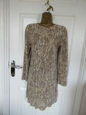 "FABULOUS FINE PLEAT MINI TUNIC DRESS BY H&M UK-16  BUST 40""  LENGTH 34"""