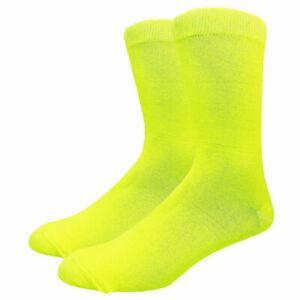 Men's Solid Color Cotton Dress Socks Assorted Plain Dress Socks, Multi-Colors