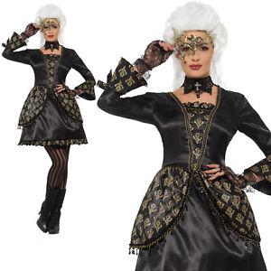 Mascarade Costume Halloween Vénitien Femmes Déguisement Adulte S-L