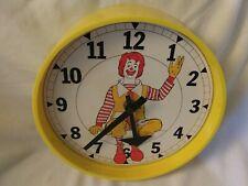 Very RARE Vintage Ronald Mcdonald Wall Clock Elgin Germany McDonald's Hamburgers
