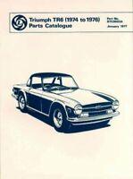 Triumph Tr6 1974-76 Parts Catalog, Paperback by Brooklands Books Ltd., Like N...