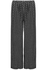 Womens polka Dotted Flared Trousers Elasticated Waist Long Palazzo Pants