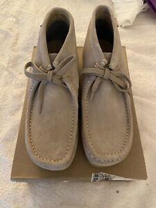 NIB Clarks Originals Wallabees Ankle Boots Lace Up Tan Sand Men's 12