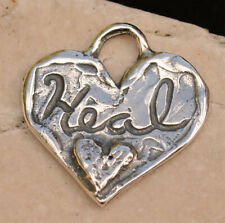 Let Love Heal Your Heart, Sterling Silver Heart Charm, H-356