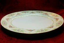 "Rare Beautiful Noritake China Glendola 16"" Oval Platter Floral Gold Gilt Japan"