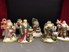 Lot Of Vintage Santa Of The Nations Figures - Mexico Italy Germany China England