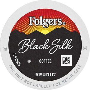 Folgers Black Silk Dark Roast Coffee K-Cup (select quantity)