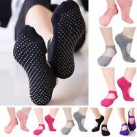 1 Pair Women Non Slip Yoga Socks For Pilates Ballet Dance Gym Cotton Socks