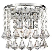 Searchlight 3302-2CC Hanna Chrome 2 Light Round Wall Bracket Crystal Drops