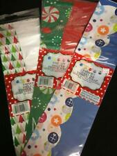 3 packs of 8 (24 total) asst deluxe Christmas tissue paper wrap for bags 20 x 20