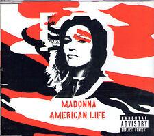 MAXI CD SINGLE 3T MADONNA AMERICAN LIFE DE 2003 POCHETTE ROUGE