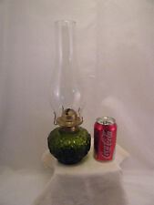 LAMP MOON & STARS LE SMITH GREEN ART GLASS OIL VINTAGE ANTIQUE
