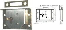 REPAIR PARTS SQUARE HALF MORTISE LOCK & KEY M1841