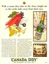 PUBBLICITA' CANADA DRY PALE THE CHAMPAGNE OF GINGER ALE AEREO AIRWAY AIRPORT 30