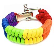 Gay Pride Paracord Bracelet Rainbow