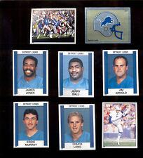 1988 Panini Detroit Lions Set EDDIE MURRAY CHUCK LONG JERRY BALL MICHAEL COFER
