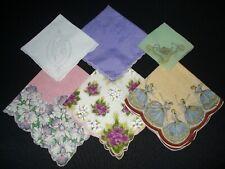 New listing Lot of 9 Cutter Hankies Handkerchiefs Vintage 3 Artist Signed Keefe Welcher +
