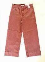 NWT Loft Women's High Waist Dazzling Rose Crop Jeans Denim Wide Leg Pants 4 6 8