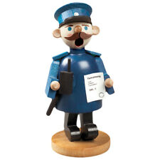 Small Police Wearing Blue Suit Incense Burner Smoker