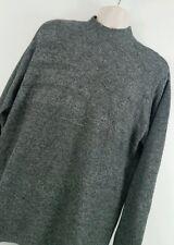TUNDRA Canada XL Men's Black & Grays Flecked Cotton Blend Mock Neck Sweater