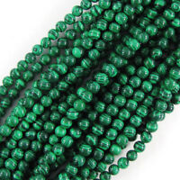 """Synthetic Green Malachite Round Beads 15.5"""" 4mm 6mm 8mm 10mm 11mm 12mm 16mm"""