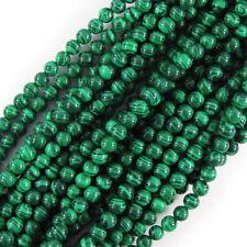 Synthetic Green Malachite Round Beads 15.5