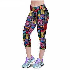 Pantalones Leggins Mujer de Diseño Fashion Multicolor Ajustables Talla S 4519S