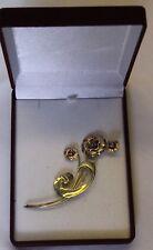 1930s 1/20 10K harry iskin floral amethyst brooch pin