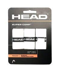 HEAD Super Comp Racquet Overgrip - Tennis Racket Grip Tape - 3-Pack, White, New