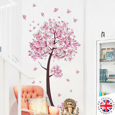 CHERRY BLOSSOM TREE Wall Sticker Vinyl Art NURSERY KIDS PINK FLOWERS GIRLS