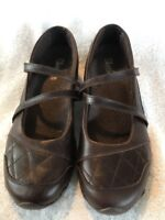 SKECHERS Womens MARY JANE SHOES LEATHER  Casual Brown Size 7.5