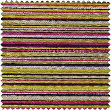 Suave Textura Diseño A Rayas Tapicería Multi Color Morado Rosa Verde Tejido