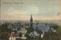 Gardner MA Birdseye View c1910 Postcard #2