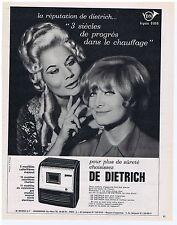 PUBLICITE ADVERTISING 104 1965 DE DIETRICH calorifères au charbon, gaz, mazout