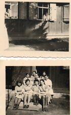 2 X ORIGINAL  GERMAN WW2  SMALL PHOTOS., ANNOTATED c BDM