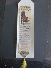 Victorian Stevengraph Silk bookmark Thomas Stevens OLD ARM CHAIR Original Card
