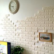 60X60cm Brique En Pierre Motif 3D Blanc texturé Mousse PE Papier peint