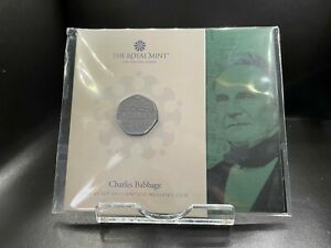 2021 Brilliant Uncirculated Charles Babbage UK 50p Fifty Pence Royal Mint