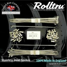 """AMC4-SSP Stainless Spokes 19"""" Rear AJS Matchless Cotton Reel Spool Hub 3.1"""" Wide"""