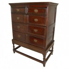 Early C18th oak chest on stand     Ref c723