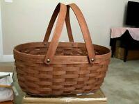 LONGABERGER Oval Medium Market Basket DEEP/DARK Brown